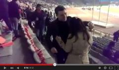 Azərbaycan-Malta oyununda evlənmə təklifi - VİDEO